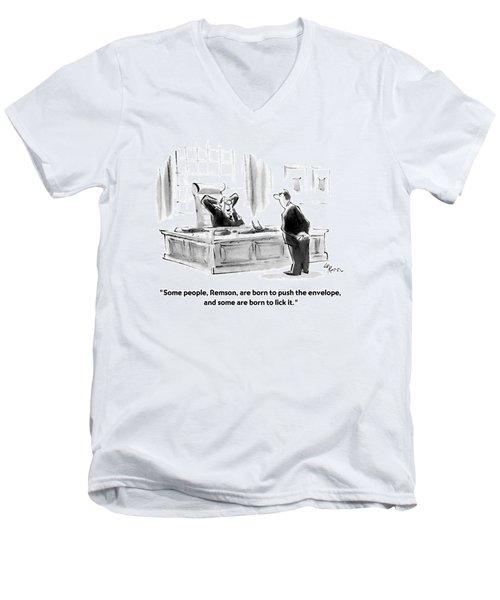 Some People Men's V-Neck T-Shirt