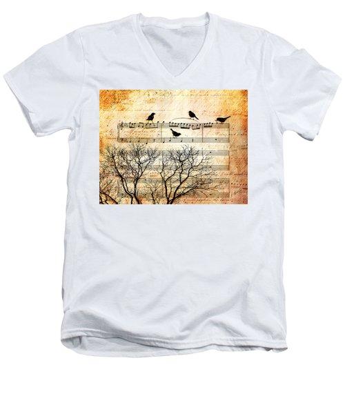 Songbirds Men's V-Neck T-Shirt by Gary Bodnar