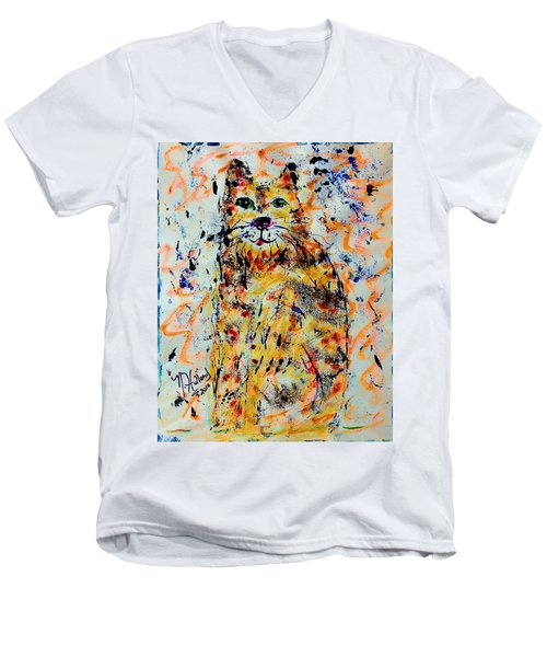Sophisticated Cat 3 Men's V-Neck T-Shirt