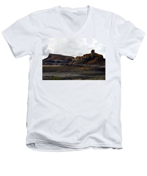 Source Of The Mud Flood Men's V-Neck T-Shirt by Lon Casler Bixby