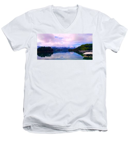 South Holston Lake Tn Men's V-Neck T-Shirt
