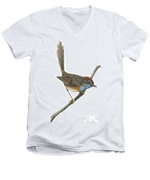 Southern Emu Wren Men's V-Neck T-Shirt by Anonymous