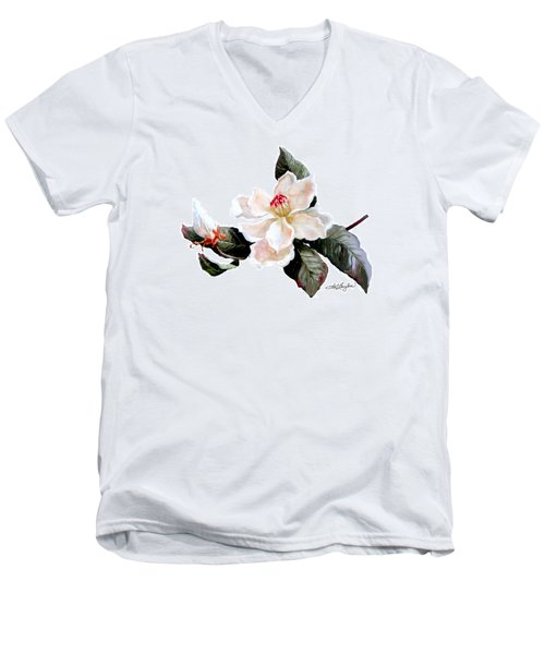 Southern Magnolia Men's V-Neck T-Shirt