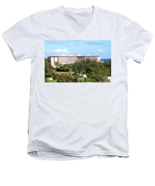 Southhampton Princess Bermuda Men's V-Neck T-Shirt by Ian  MacDonald