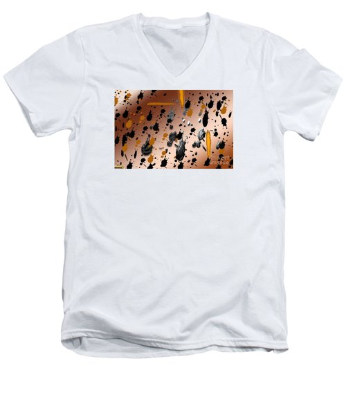 Men's V-Neck T-Shirt featuring the photograph Splatters by Tina M Wenger