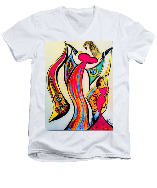 Spanish Guitar Men's V-Neck T-Shirt