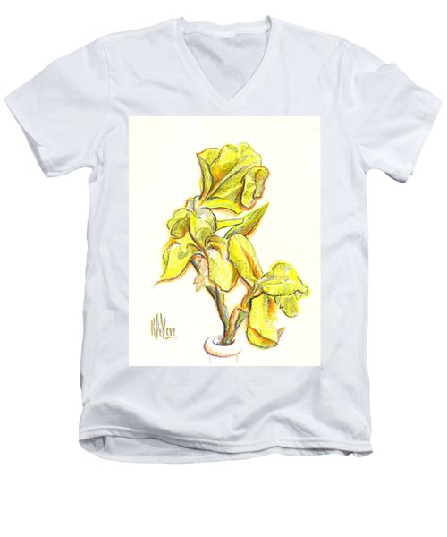 Spanish Irises Men's V-Neck T-Shirt