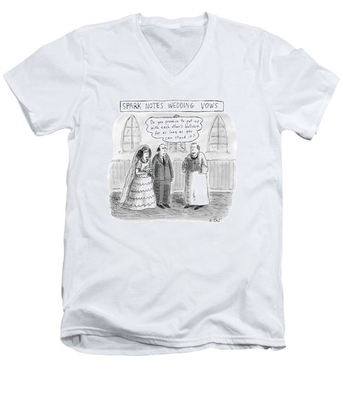 Spark Notes Marriage Vows -- A Minister Says Men's V-Neck T-Shirt