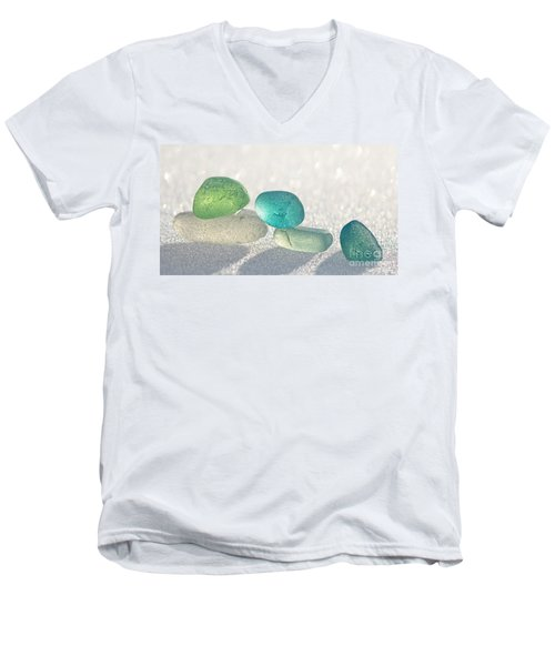 Sparkling Sea Glass Friends Men's V-Neck T-Shirt