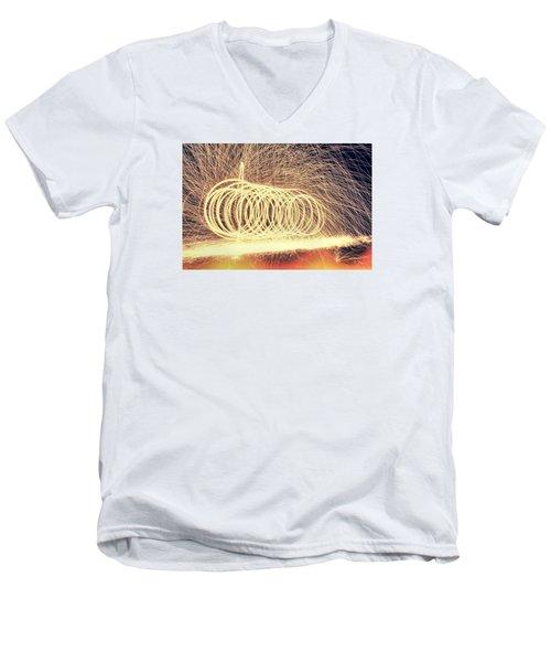 Sparks Men's V-Neck T-Shirt by Dan Sproul