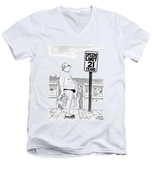 Speedo Limit  21 Years Men's V-Neck T-Shirt