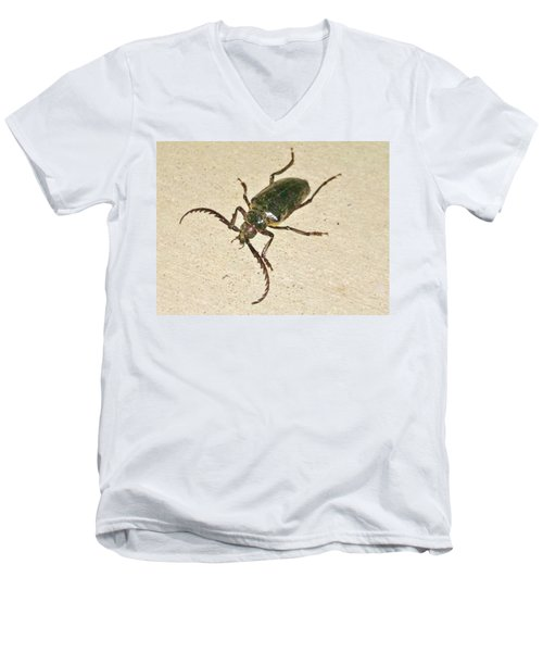 Men's V-Neck T-Shirt featuring the photograph Spike by Angela J Wright