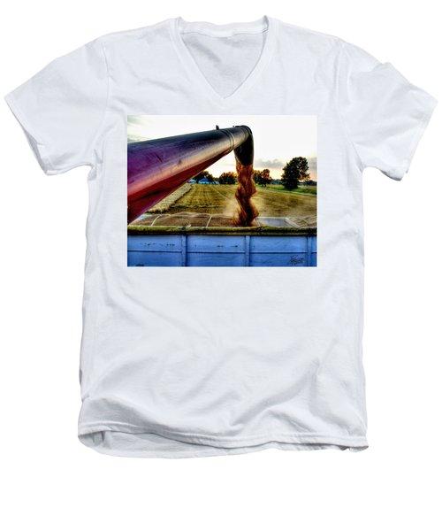 Spiral In Time Men's V-Neck T-Shirt