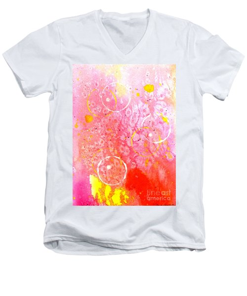 Spirit Dance Men's V-Neck T-Shirt by Desiree Paquette