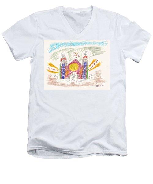 Spirit Of St Francis Men's V-Neck T-Shirt by Mark David Gerson