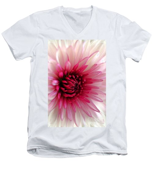 Splash Of Pink Men's V-Neck T-Shirt