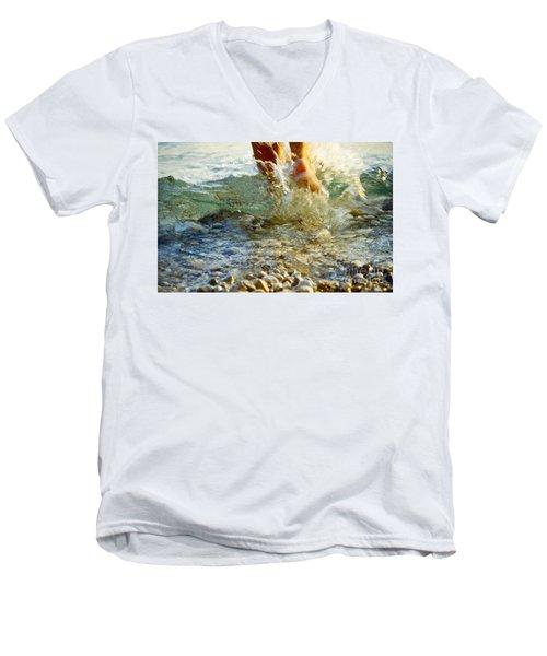 Splish Splash Men's V-Neck T-Shirt by Heiko Koehrer-Wagner