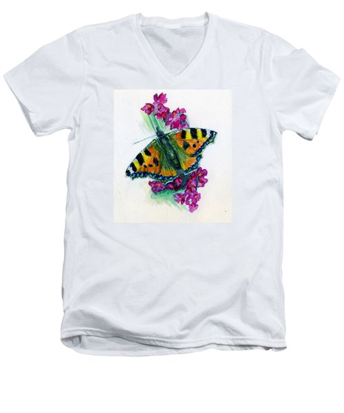 Spreading Wings Of Colour Men's V-Neck T-Shirt