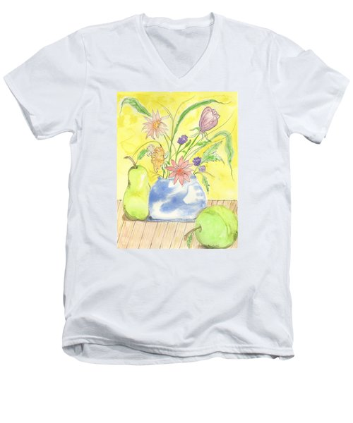 Spring Bouquet Men's V-Neck T-Shirt