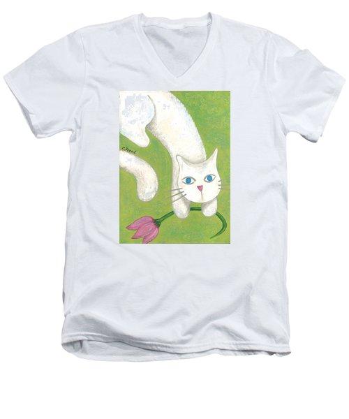 Spring Cat Men's V-Neck T-Shirt