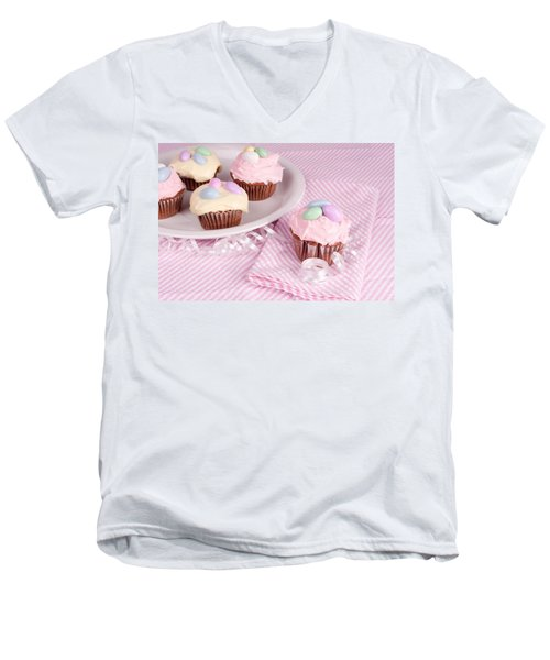 Cupcakes With A Spring Theme Men's V-Neck T-Shirt