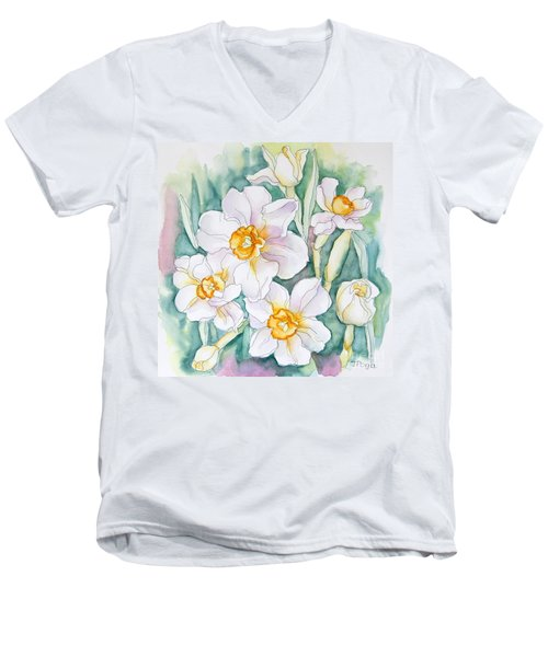 Spring Daffodils Men's V-Neck T-Shirt