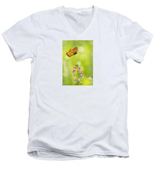 Spring Delight Men's V-Neck T-Shirt by Alice Cahill