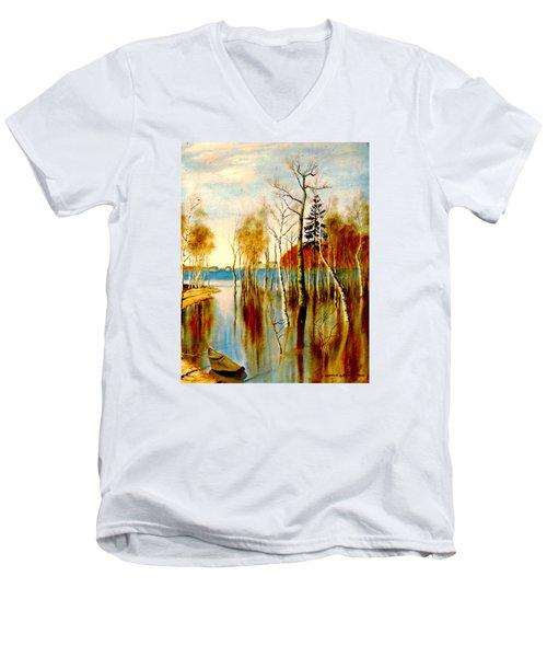 Spring Flood Men's V-Neck T-Shirt by Henryk Gorecki