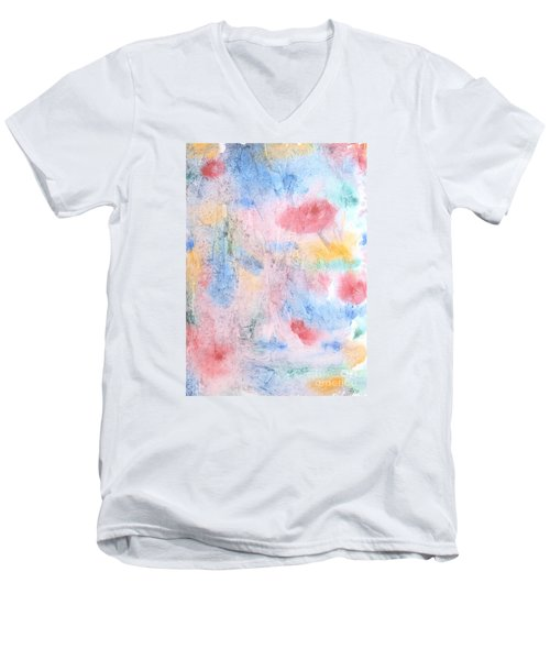 Men's V-Neck T-Shirt featuring the photograph Spring Garden by Susan  Dimitrakopoulos