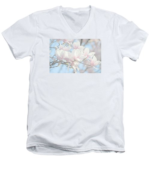 Men's V-Neck T-Shirt featuring the photograph Spring Has Arrived 3 by Susan  McMenamin