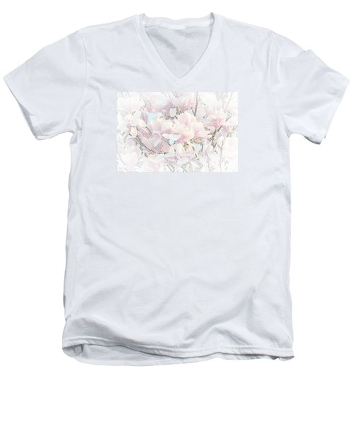 Men's V-Neck T-Shirt featuring the photograph Spring Has Arrived II  by Susan  McMenamin