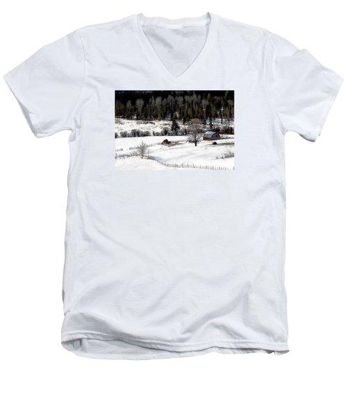 Spring Horizon Men's V-Neck T-Shirt by Ed Hall