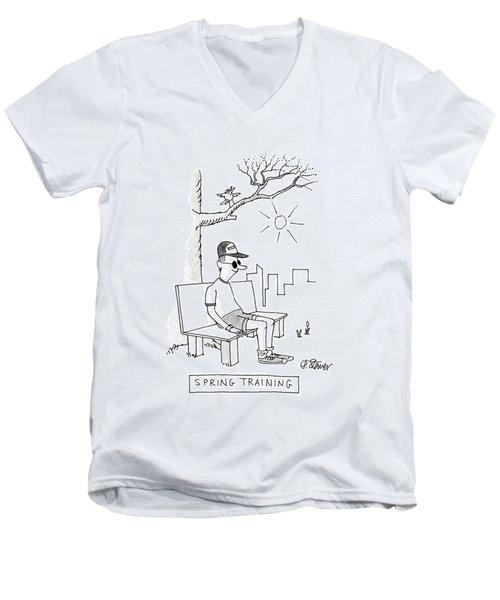 Spring Training Men's V-Neck T-Shirt
