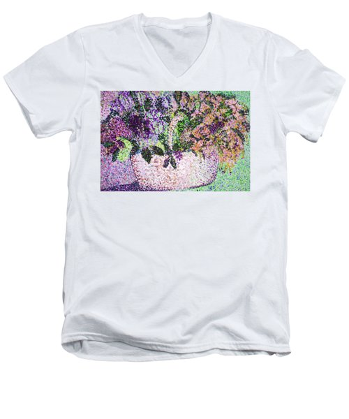 Springtime Basket Men's V-Neck T-Shirt