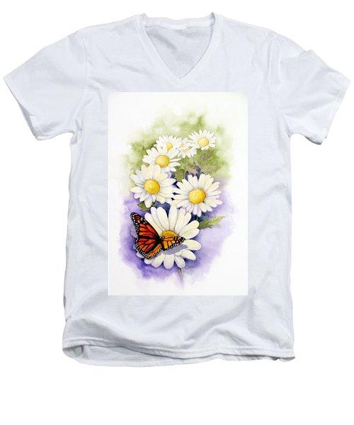 Springtime Daisies  Men's V-Neck T-Shirt