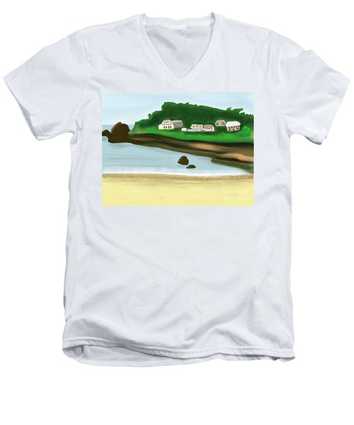 A Peaceful Life  Men's V-Neck T-Shirt