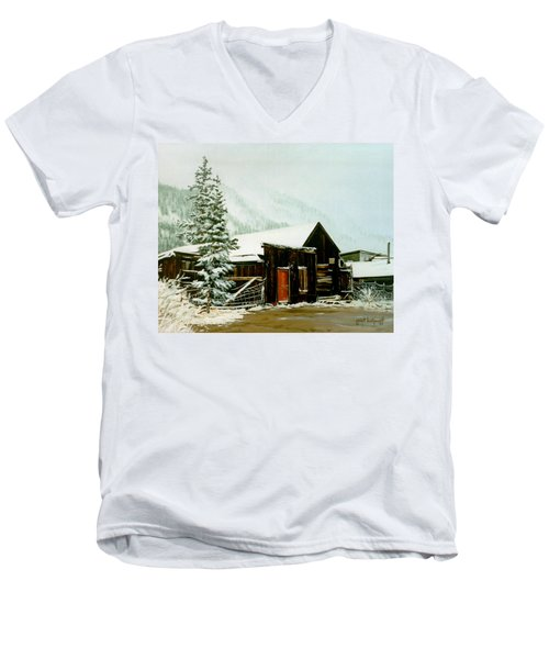 St Elmo Snow Men's V-Neck T-Shirt by Craig T Burgwardt