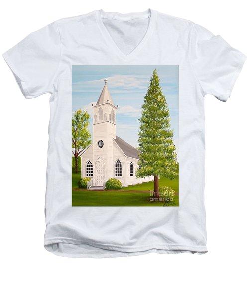 St. Gabriel The Archangel Roman Catholic Church Men's V-Neck T-Shirt