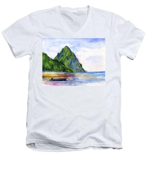 St. Lucia Men's V-Neck T-Shirt