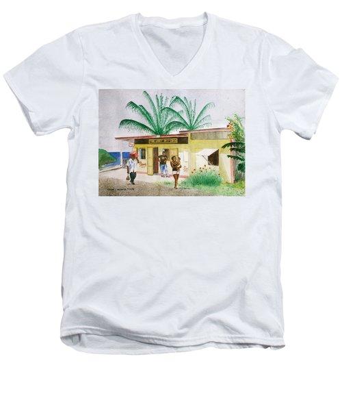St. Lucia Store Men's V-Neck T-Shirt