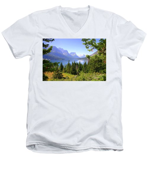 St. Mary Lake Men's V-Neck T-Shirt