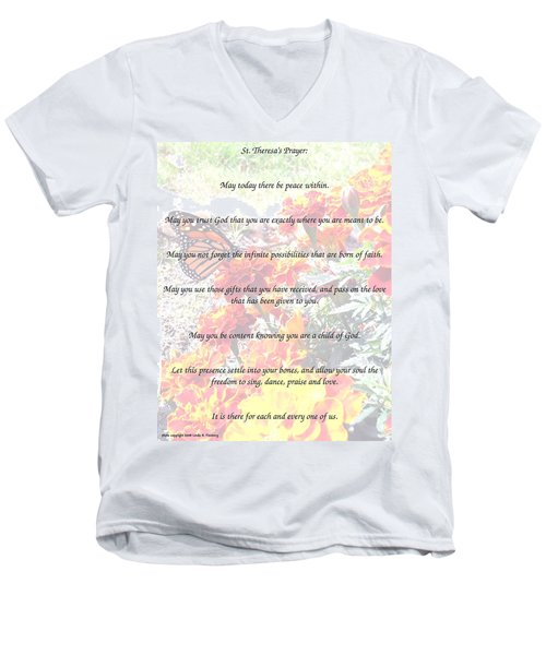 St Theresa's Prayer Men's V-Neck T-Shirt