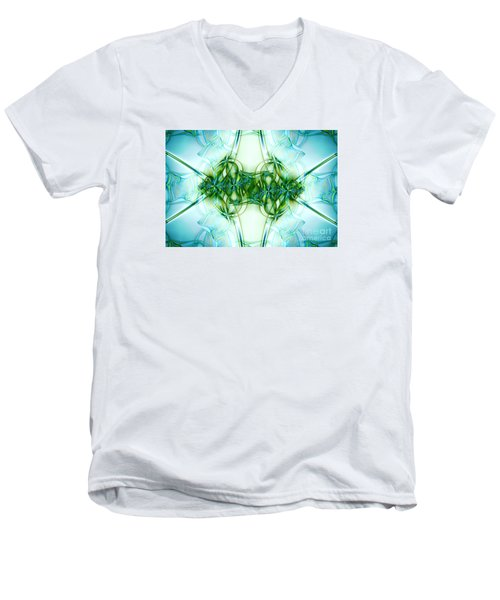 Stain Glass Men's V-Neck T-Shirt by Lena Auxier