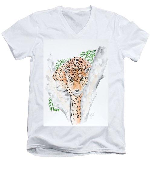 Stalker In The Trees Men's V-Neck T-Shirt