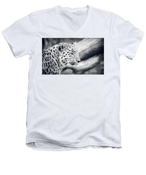 Men's V-Neck T-Shirt featuring the photograph Stalking Prey by Stwayne Keubrick