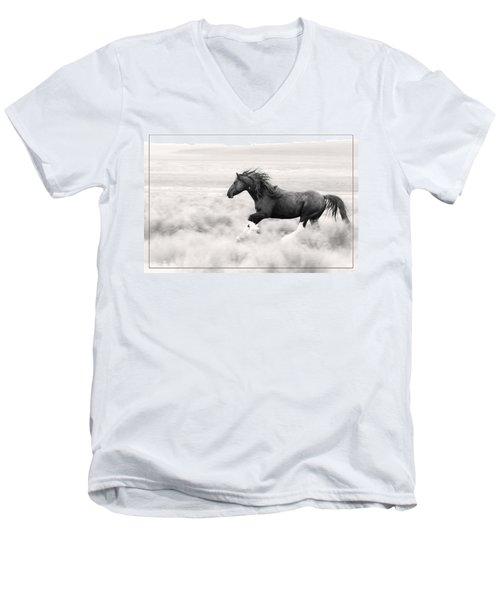 Stallion Blur Men's V-Neck T-Shirt