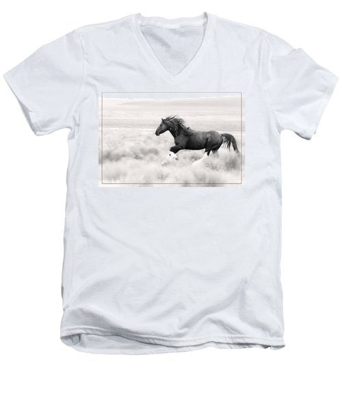 Stallion Blur Men's V-Neck T-Shirt