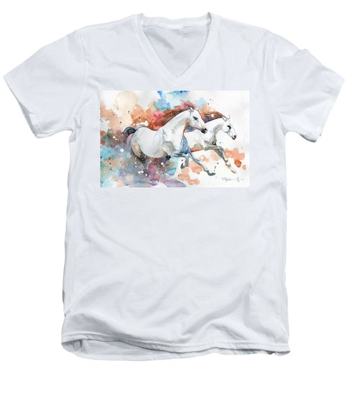 Stallions Men's V-Neck T-Shirt