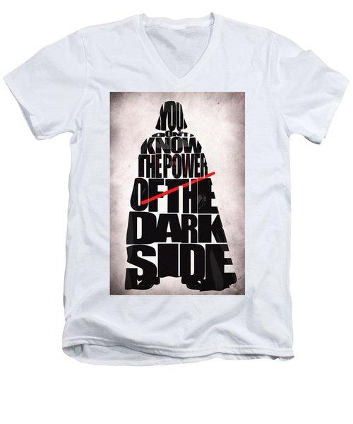 Star Wars Inspired Darth Vader Artwork Men's V-Neck T-Shirt by Ayse Deniz