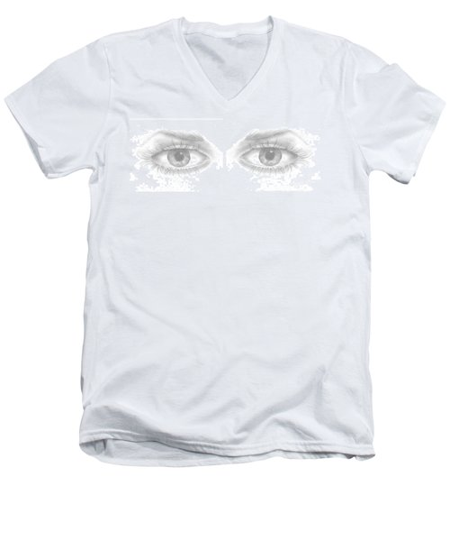 Stare Men's V-Neck T-Shirt by Terry Frederick